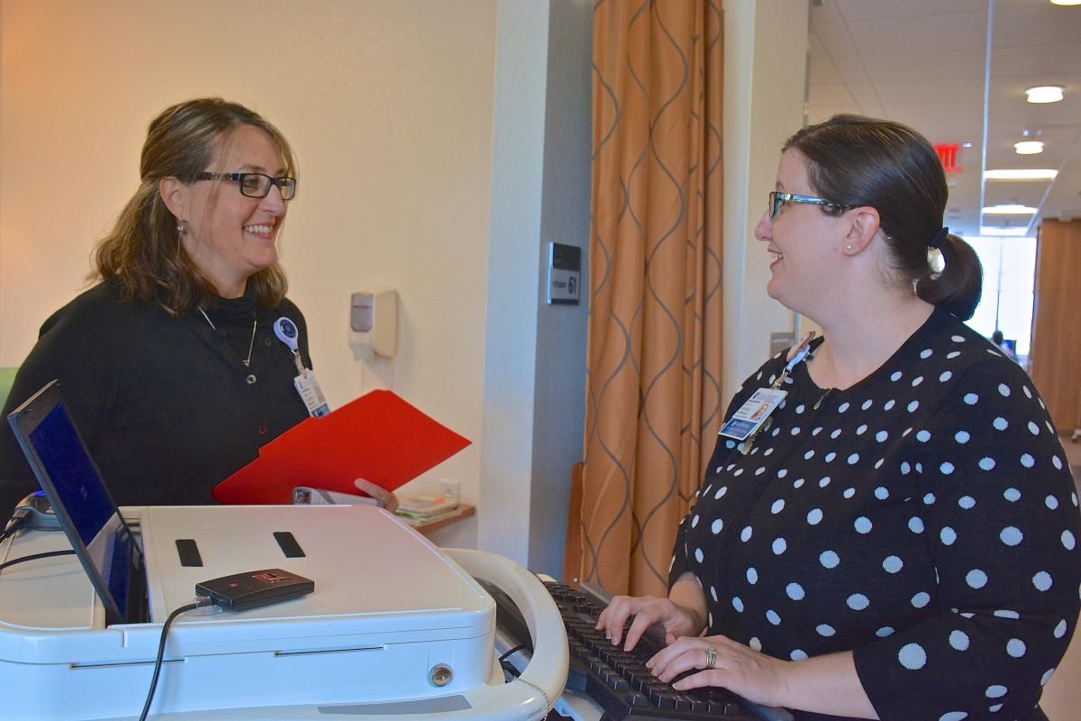 From left to right: Mary Ann Plambeck, MSN., RN, OCN., and Amy Suggs Boswell, MSN, RN, OCN.
