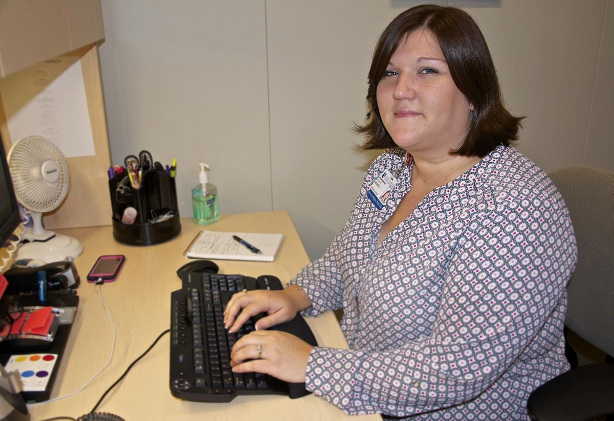 Ann Robbins, new patient coordinator for GI oncology, has served on the access team for more than eight years.
