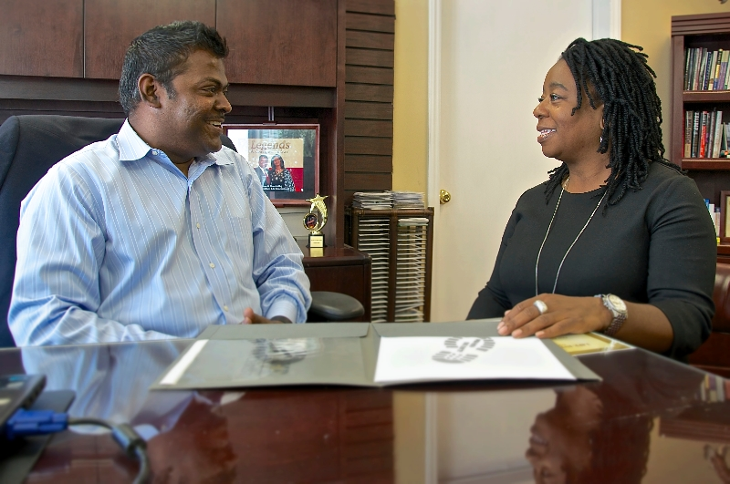 Pastor Steve Raj and Nadine Barrett, Ph.D., director of the DCI Office of Health Equity and Disparities, have been working together for three years to increase men's access to prostate cancer screening and care.