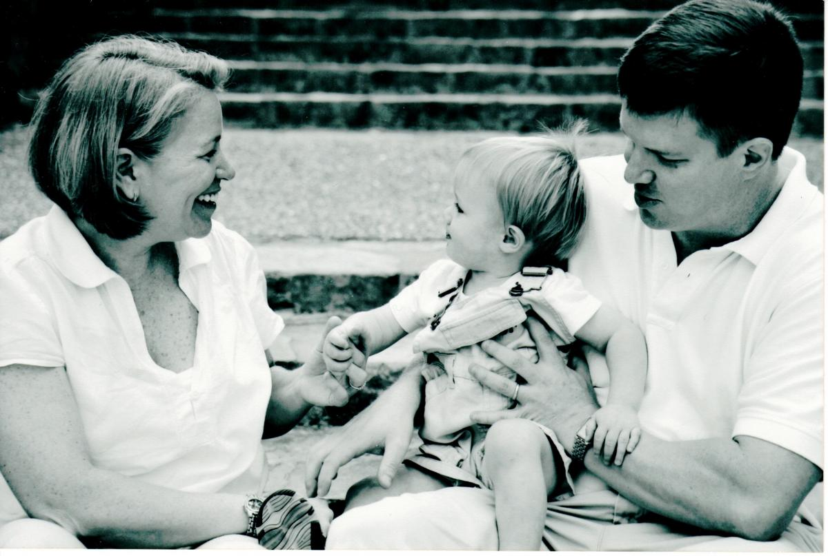 Bethany Clements with her husband, Mark, and son, Henry, a year before her diagnosis.