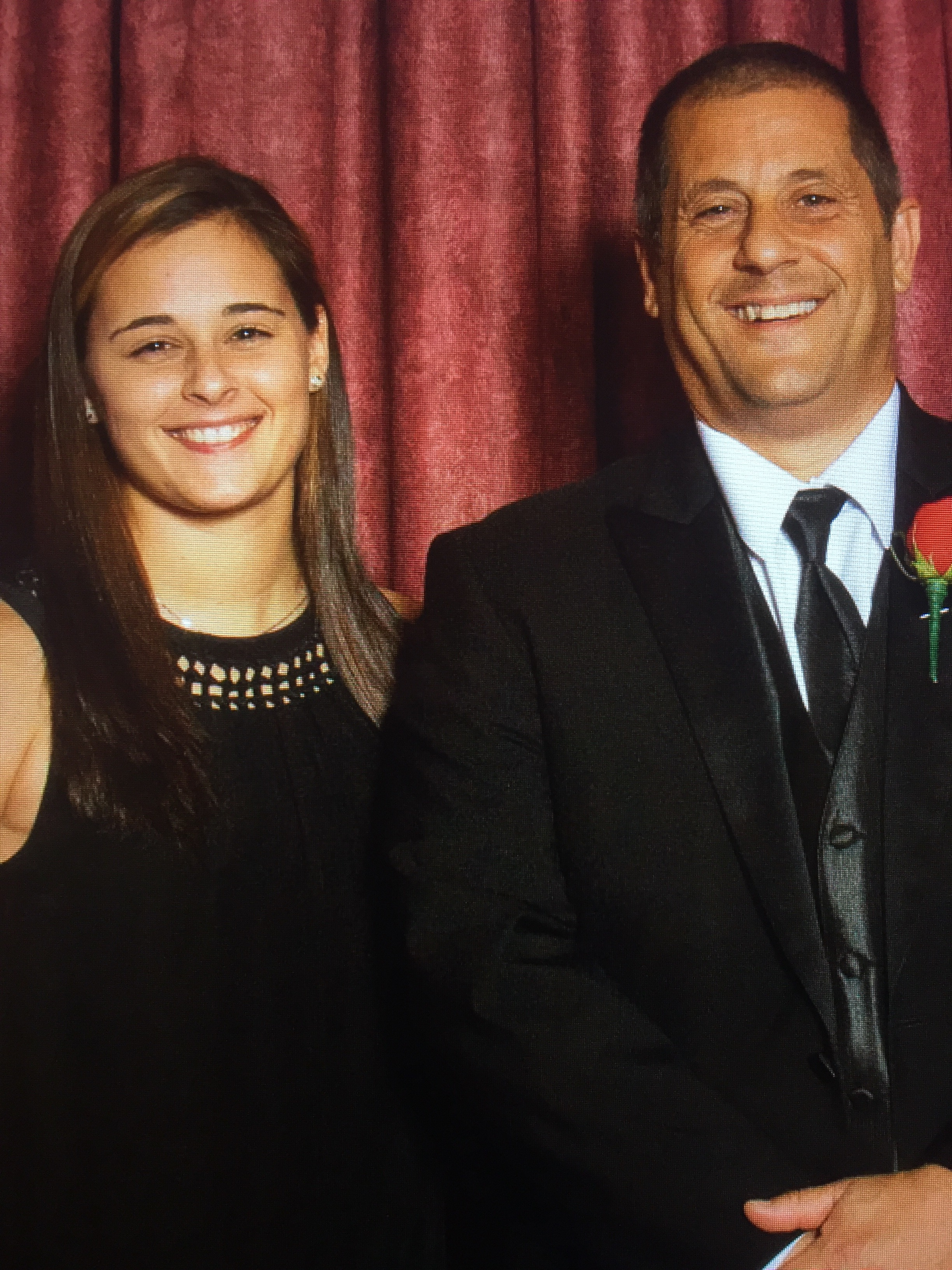Father-of-three Michael Salomone with his daughter Maggie.