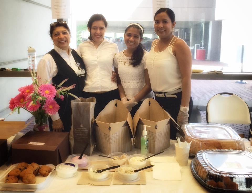 Team Renacer, led by Xiomara Boyce (far left), raised more than $1,000 at its Aug. 18 bake sale. Photo courtesy of Kim Malugen.
