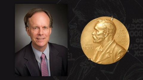 William Kaelin and Nobel Prize medal