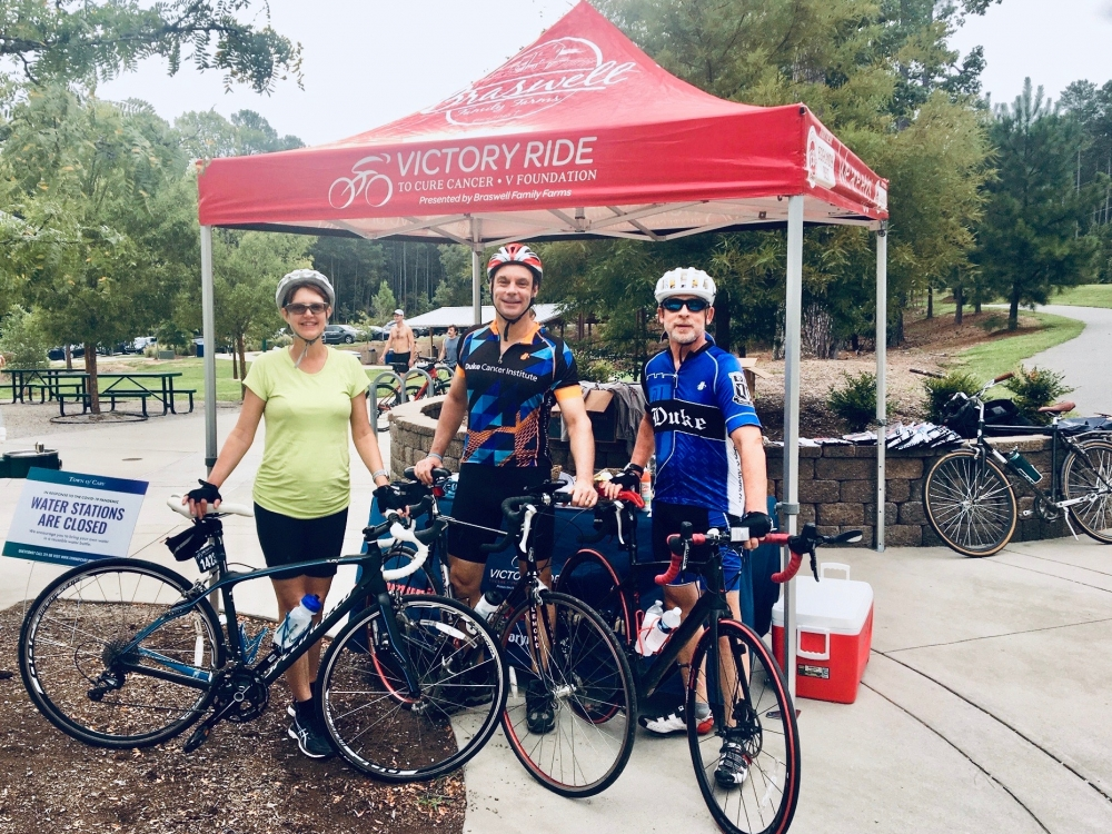 DCI's David Brizel, MD, Dan George, MD, and Dr. George's wife saddle up for their V Ride