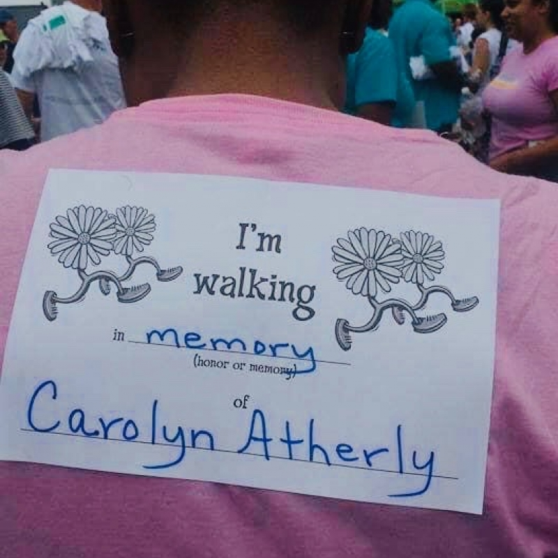 In memory of Carolyn Atherly