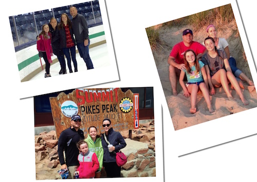 """We are living more for memories now and trying to do things that are cool to pass along to future generations; that they will remember doing with us,"" said cancer survivor Ryan Switzer. The Switzer family enjoyed vacations at Notre Dame (Dec. 2016), Pikes Peak (June 2016), and Lake Michigan (July 2016) last year!"